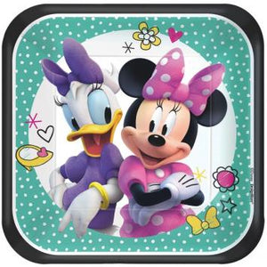 "Disney Minnie Mouse Happy Helpers Square Plates, 7"" (16 in a package)"