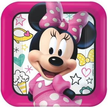 Disney Minnie Mouse Happy Helpers Square Plates, 9