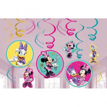 Disney Minnie Mouse Happy Helpers Value Pack Foil Swirl Decorations (24 in a package)