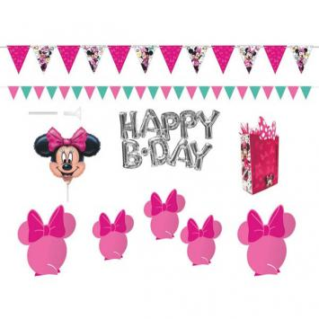 Disney Minnie Mouse Happy Helpers Wall & Table Decoration Kit (10 in a package)