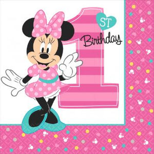 Disney Minnie's Fun To Be One Luncheon Napkins (32 in a package)