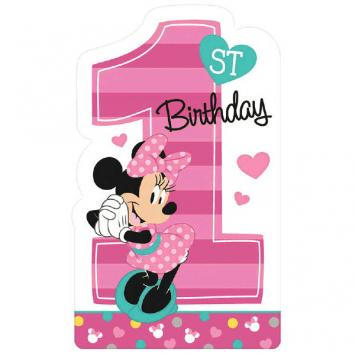 Disney Minnie's Fun To Be One Postcard Invitations (16 in a package)