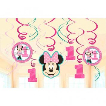 Disney Minnie's Fun To Be One Value Pack Foil Swirl Decorations (24 in a package)