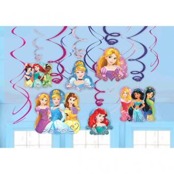 Disney Princess Dream Big Value Pack Swirl Decorations (24 in a package)
