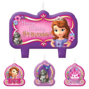 Disney Sofia The First Birthday Candle Set (4 in a package)