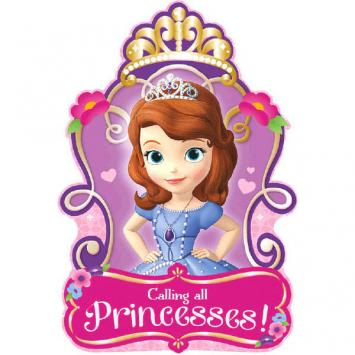 Disney Sofia The First Invitations (16 in a package)