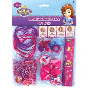 Disney Sofia The First Mega Mix Value Pack Favors (48 in a package)