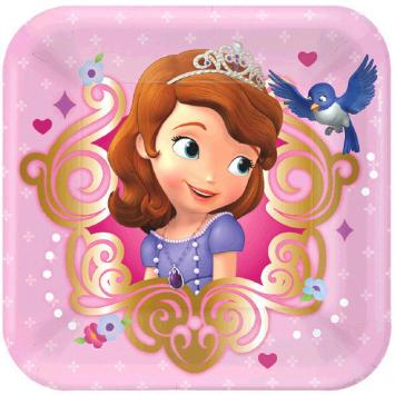 Disney Sofia The First Square Plates, 7