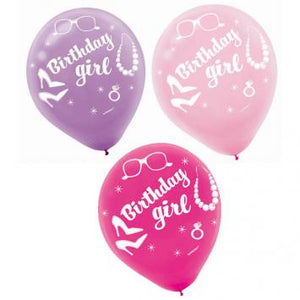 Barbie Sparkle Printed Latex Balloons (12 in a package)