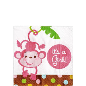Girl Fisher-Price Baby Shower Beverage Napkins 16ct (32 in a package)