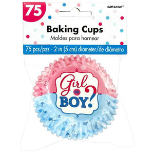 Girl or Boy? Baking Cups (75 in a package)