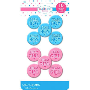 Girl or Boy? Buttons (10 in a package)