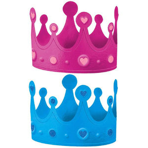 Girl or Boy? Crowns - Pink/Blue (12 in a package)