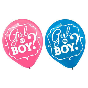 Girl or Boy? Latex Balloons (15 in a package)