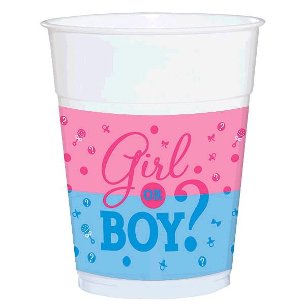 Girl or Boy? Plastic Cups (25 in a package)