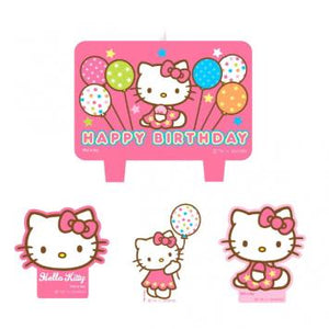 Hello Kitty Balloon Dreams Mini Molded Cake Candles (4 in a package)