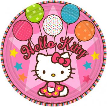 Hello Kitty Balloon Dreams Round Plates, 9