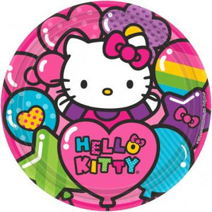 "Hello Kitty Rainbow 9"" Round Plates (16 in a package)"