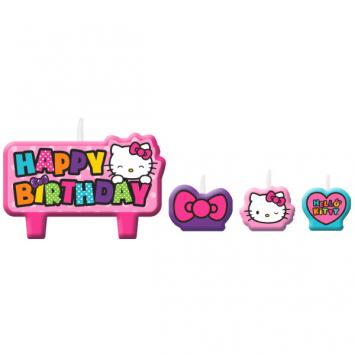 Hello Kitty Rainbow Birthday Candle Set (4 in a package)