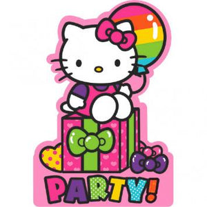Hello Kitty Rainbow Invitations (16 in a package)