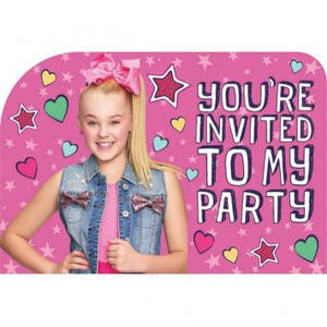 JoJo Siwa Postcard Invites (16 in a package)