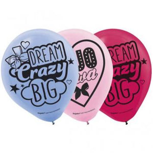 JoJo Siwa Printed Latex Balloons (12 in a package)