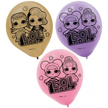 LOL Surprise Latex Balloons - Asst. Colors (12 in a package)