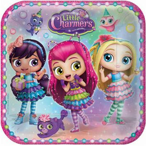 "Little Charmers Square Plates, 9"" (16 in a package)"
