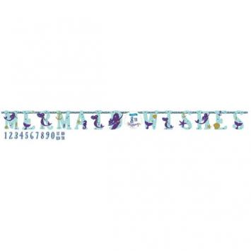 Mermaid Wishes Jumbo Add-An- Age Letter Banner