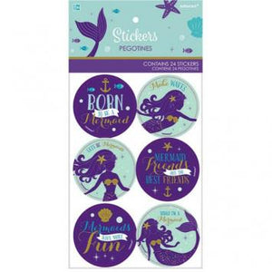 Mermaid Wishes Stickers (48 in a package)