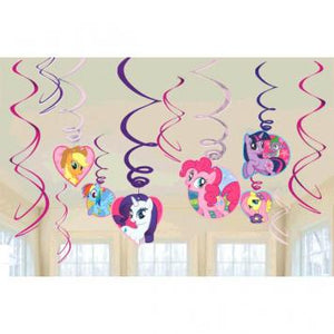 My Little Pony Friendship Value Pack Foil Swirl Decorations (24 in a package)