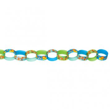 One Wild Boy Printed Paper Chain Link Garland