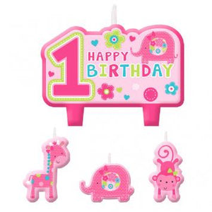 One Wild Girl Birthday Candle Set