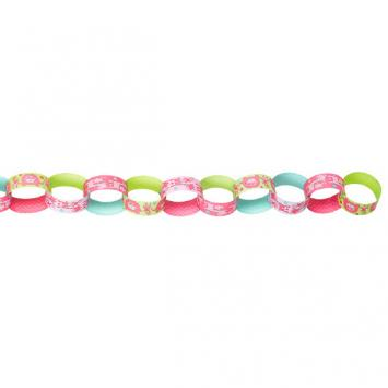 One Wild Girl Printed Paper Chain Link Garland