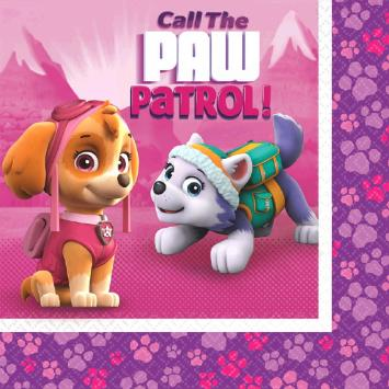Paw Patrol Girl Luncheon Napkins (32 in a package)