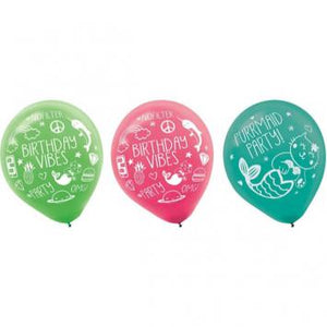 Selfie Celebration Printed Latex Balloons (12 in a package)