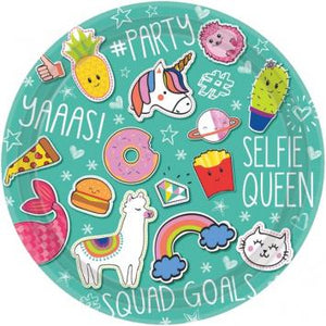 "Selfie Celebration Round Plates, 9"" (16 in a package)"