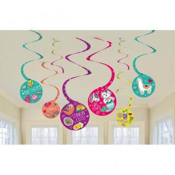 Selfie Celebration Spiral Decorations (16 in a package)