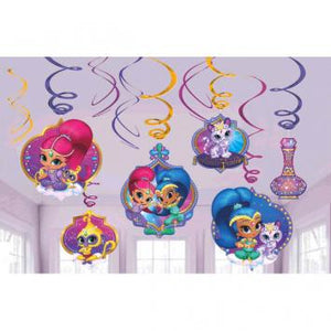Shimmer and Shine Value Pack Foil Swirl Decorations (24 in a package)
