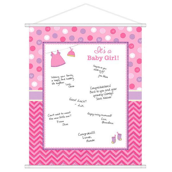 Shower with Love Girl Sign-In Sheet