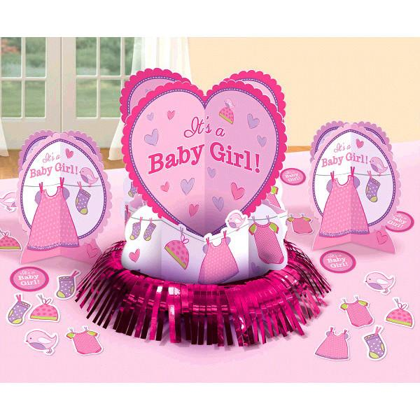 Shower with Love Girl Table Decorating Kit