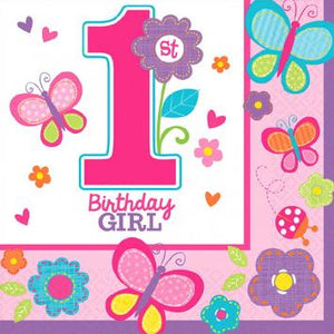 Sweet Birthday Girl Beverage Napkins (36 in a package)