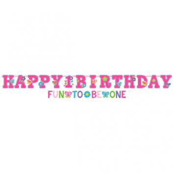 Sweet Birthday Girl Jumbo Letter Banner Kit (2 in a package)