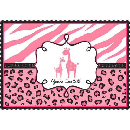 Sweet Safari Girl-Postcard Invitations (20 in a package)