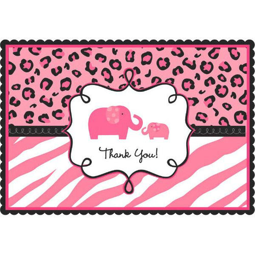 Sweet Safari Girl-Postcard Thank You Cards (20 in a package)