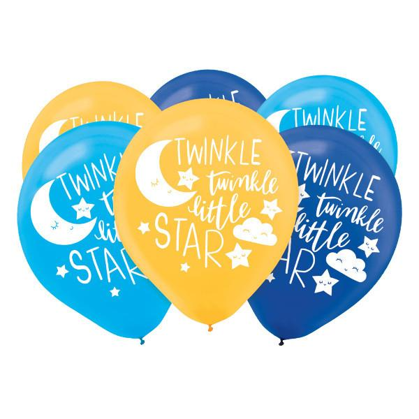 Twinkle Little Star Latex Balloons - Asst. Colors (15 in a package)