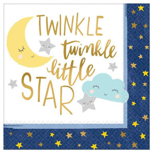 Twinkle Little Star Beverage Napkins (32 in a package)