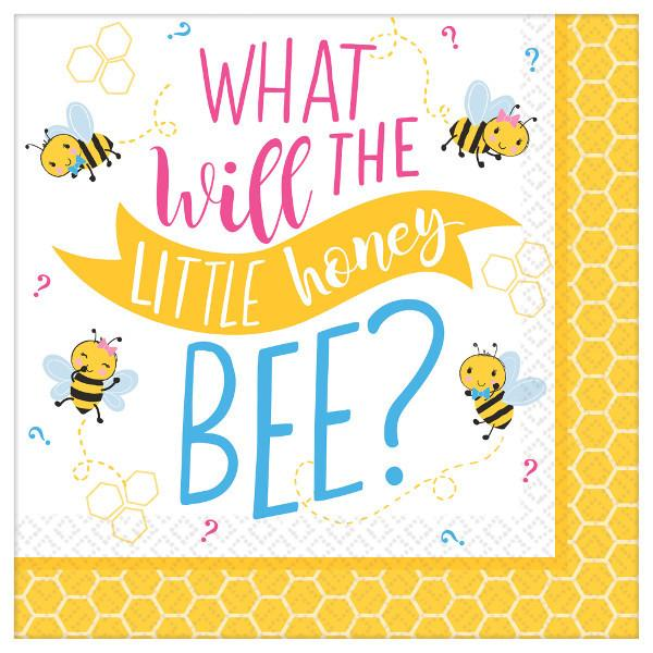 What Will It Bee? Beverage Napkins (32 in a package)