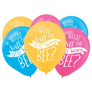 What Will It Bee? Latex Balloons - Asst. Colors (15 in a package)