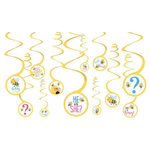 What Will It Bee? Value Pack Spiral Decorations (12 in a package)